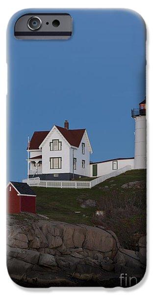 Cape Neddick Lighthouse iPhone Cases - Cape Neddick Lighthouse iPhone Case by John Shaw