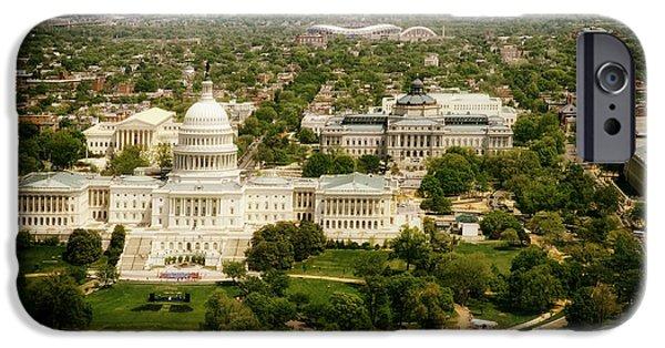 D.c. iPhone Cases - Capitol Hill - Washington D.C. iPhone Case by Mountain Dreams