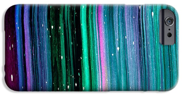 Intergalactic Space Paintings iPhone Cases - Cassiopeia Texture iPhone Case by Chad Mars