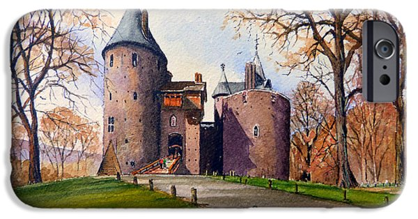 Pathway iPhone Cases - Castell Coch  iPhone Case by Andrew Read
