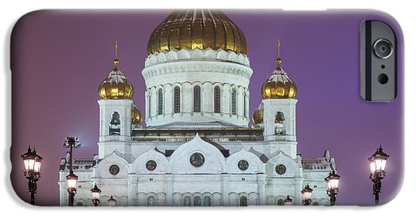Russian Cross iPhone Cases - Cathedral of Christ the Savior Of Moscow - Russia - Featured 2 iPhone Case by Alexander Senin