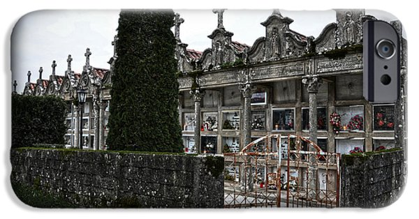 Relief Print iPhone Cases - Cemetery in a small village in Galicia iPhone Case by  RicardMN Photography