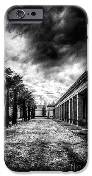 Cemetary iPhone Cases - Cemetery of Mantova  iPhone Case by Traven Milovich