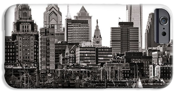Phillies iPhone Cases - Center City Philadelphia iPhone Case by Olivier Le Queinec