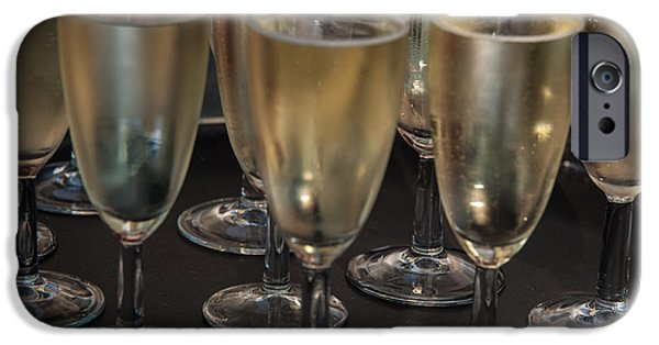 Prosecco iPhone Cases - Champagne Flutes iPhone Case by Frank Gaertner