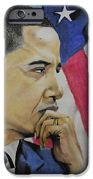 Politician Pastels iPhone Cases - Change to believe in iPhone Case by Marvin Ryan