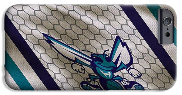 Hornets iPhone Cases - Charlotte Hornets Uniform iPhone Case by Joe Hamilton