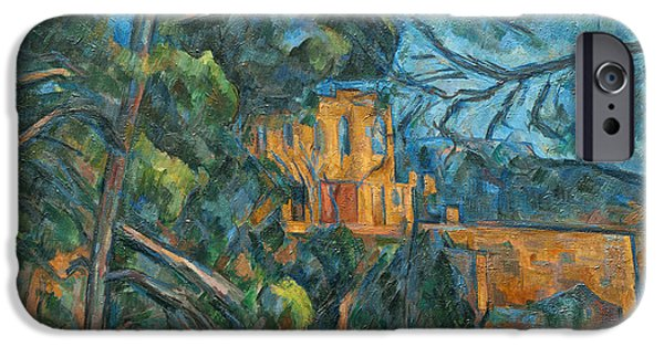 Loose Style Paintings iPhone Cases - Chateau Noir iPhone Case by Paul Cezanne