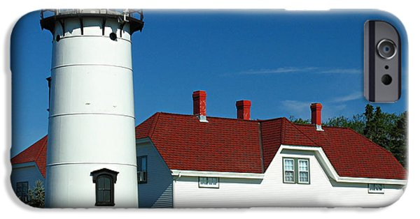 Chatham iPhone Cases - Chatham Lighthouse iPhone Case by Juergen Roth
