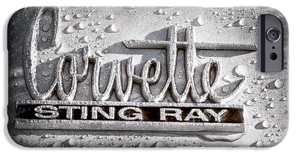Sting Ray iPhone Cases - Chevrolet Corvette Sting Ray Emblem iPhone Case by Jill Reger