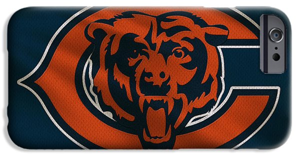 Uniform iPhone Cases - Chicago Bears Uniform iPhone Case by Joe Hamilton