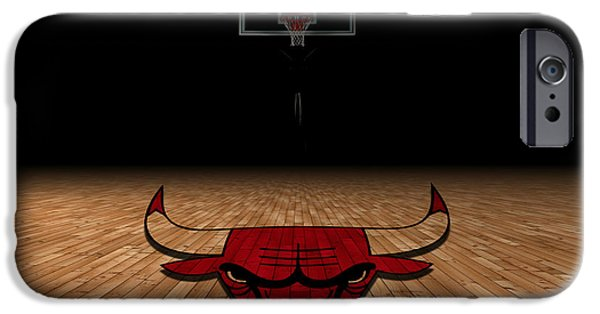 Division iPhone Cases - Chicago Bulls iPhone Case by Joe Hamilton