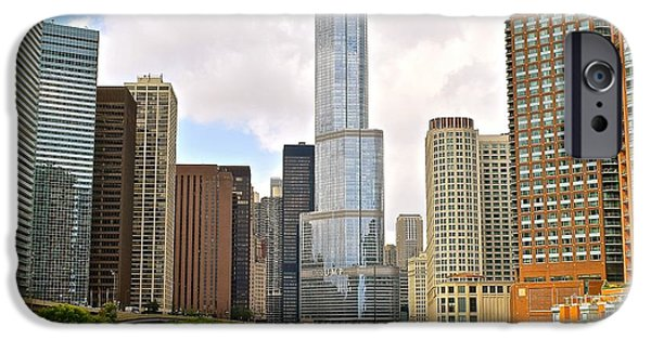 Inner World iPhone Cases - Chicago River View iPhone Case by Frozen in Time Fine Art Photography