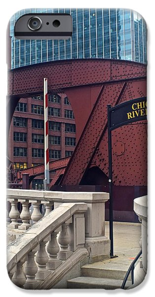 Wrigley iPhone Cases - Chicago Riverwalk iPhone Case by Frozen in Time Fine Art Photography