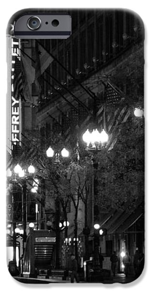 Chicago Theatre at night iPhone Case by Christine Till