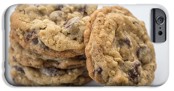 Oatmeal iPhone Cases - Chocolate Chip Cookies iPhone Case by Edward Fielding