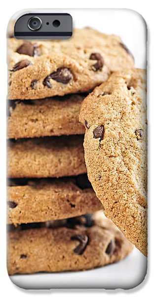 Chocolate chip cookies iPhone Case by Elena Elisseeva