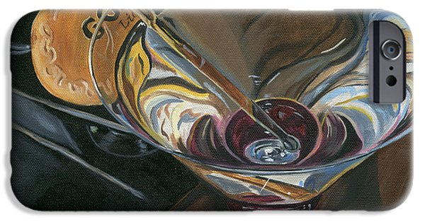 Food And Beverage Paintings iPhone Cases - Chocolate Martini iPhone Case by Debbie DeWitt