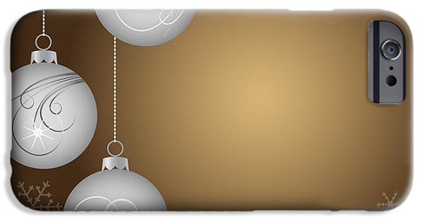 Christmas Eve Digital Art iPhone Cases - Christmas background iPhone Case by Michal Boubin