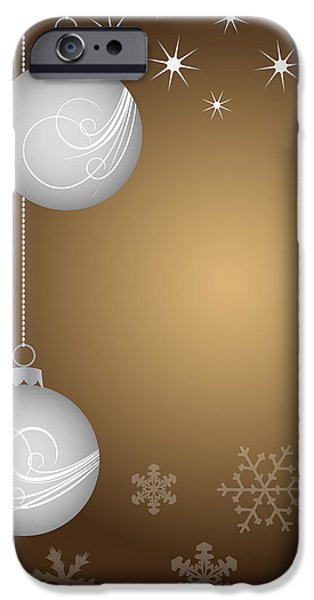 Christmas background iPhone Case by Michal Boubin