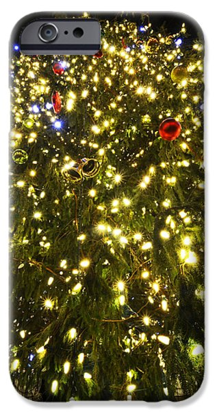 Boston Ma iPhone Cases - Christmas Tree Ornaments Faneuil Hall Tree Boston iPhone Case by Toby McGuire