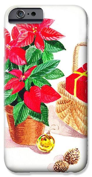 Christmas Greeting iPhone Cases - Christmas  iPhone Case by Irina Sztukowski