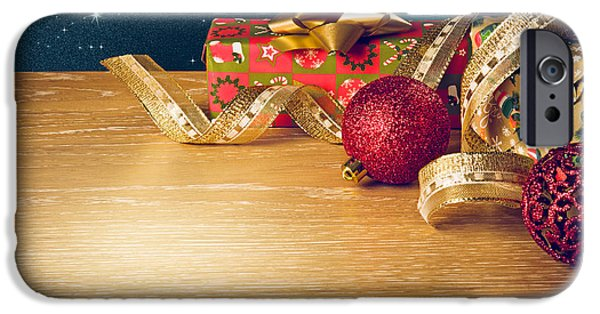 Sparking iPhone Cases - Christmas Still-life iPhone Case by Carlos Caetano