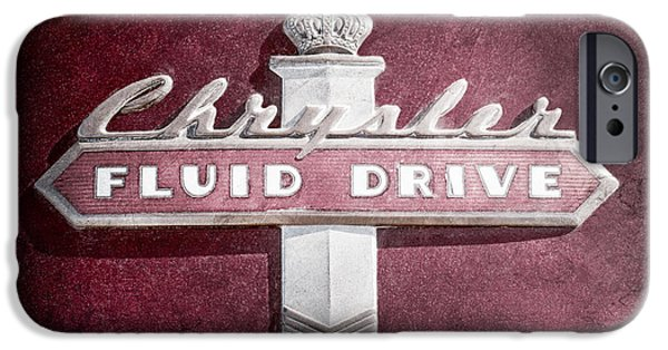 Chrysler iPhone Cases - Chrysler Fluid Drive Emblem iPhone Case by Jill Reger