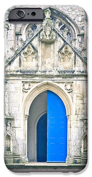 Abbey iPhone Cases - Church door iPhone Case by Tom Gowanlock