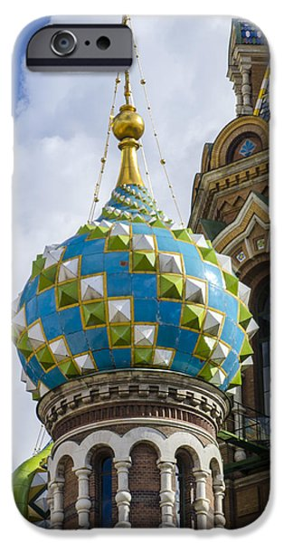 St John The Russian iPhone Cases - Church of the Spilled Blood - St. Petersburg Russia iPhone Case by Jon Berghoff
