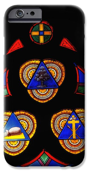 Shape Glass iPhone Cases - Church Stained Glass iPhone Case by Mountain Dreams