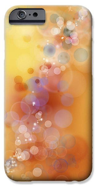Yellow Images iPhone Cases - Circles background iPhone Case by Les Cunliffe