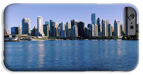 Built Structure iPhone Cases - City Skyline, Vancouver, British iPhone Case by Panoramic Images