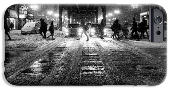 Keeping In Touch Photographs iPhone Cases - City Snow iPhone Case by Kent Henderson