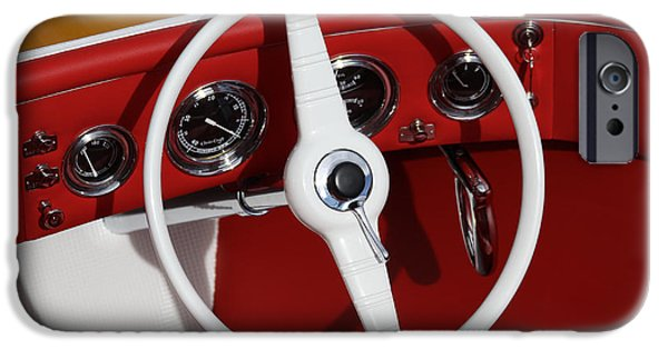 Mahogany Red iPhone Cases - Classic Speedboats iPhone Case by Steven Lapkin