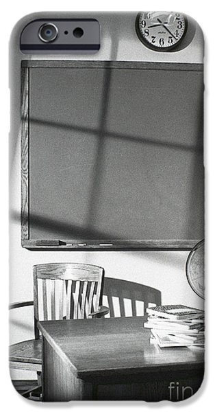 Business Photographs iPhone Cases - Classroom iPhone Case by Tony Cordoza