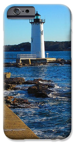Lighthouse iPhone Cases - Coast Guard New Castle NH iPhone Case by Jeffrey  Akerson