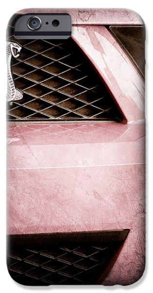 Cobra iPhone Cases - Cobra Grille Emblem iPhone Case by Jill Reger