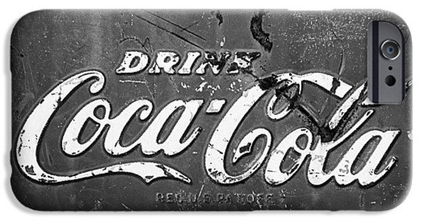 Coca-cola Signs iPhone Cases - Coca-Cola Sign iPhone Case by Jill Reger