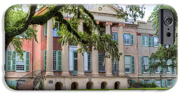 Hall iPhone Cases - College of Charleston Randolph Hall iPhone Case by Dustin K Ryan