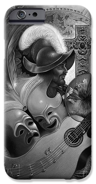 Keyboard Paintings iPhone Cases - Color y Cultura iPhone Case by Ricardo Chavez-Mendez