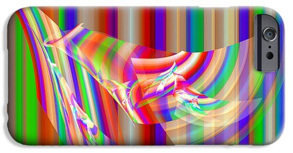 Fractal iPhone Cases - Colorful Straight Line Fractal Flame Background iPhone Case by Keith Webber Jr