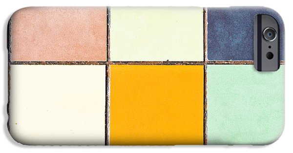 Mosaic iPhone Cases - Colorful tiles iPhone Case by Tom Gowanlock