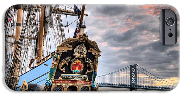 Pirate Ship iPhone Cases - Colors iPhone Case by JC Findley