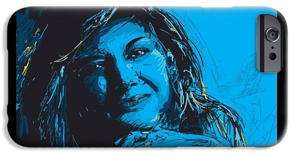 Pen And Ink iPhone Cases - Commissioned Portraits iPhone Case by Catf