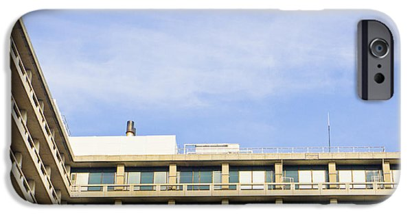 60s Photographs iPhone Cases - Concrete building iPhone Case by Tom Gowanlock