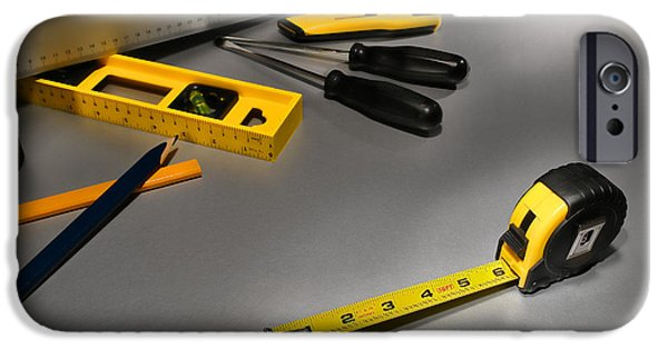 Work Tool Photographs iPhone Cases - Construction iPhone Case by Olivier Le Queinec