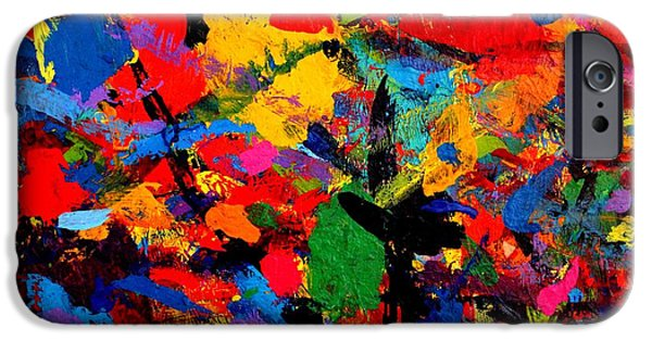Abstract Expressionism Paintings iPhone Cases - Cornucopia iPhone Case by John  Nolan
