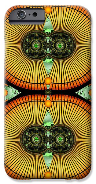 Mitosis iPhone Cases - Cosmic Mitosis iPhone Case by Ellen Henneke