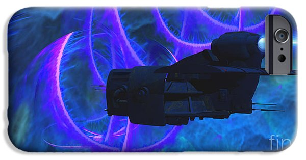 Jet Star Digital Art iPhone Cases - Cosmic String iPhone Case by Corey Ford